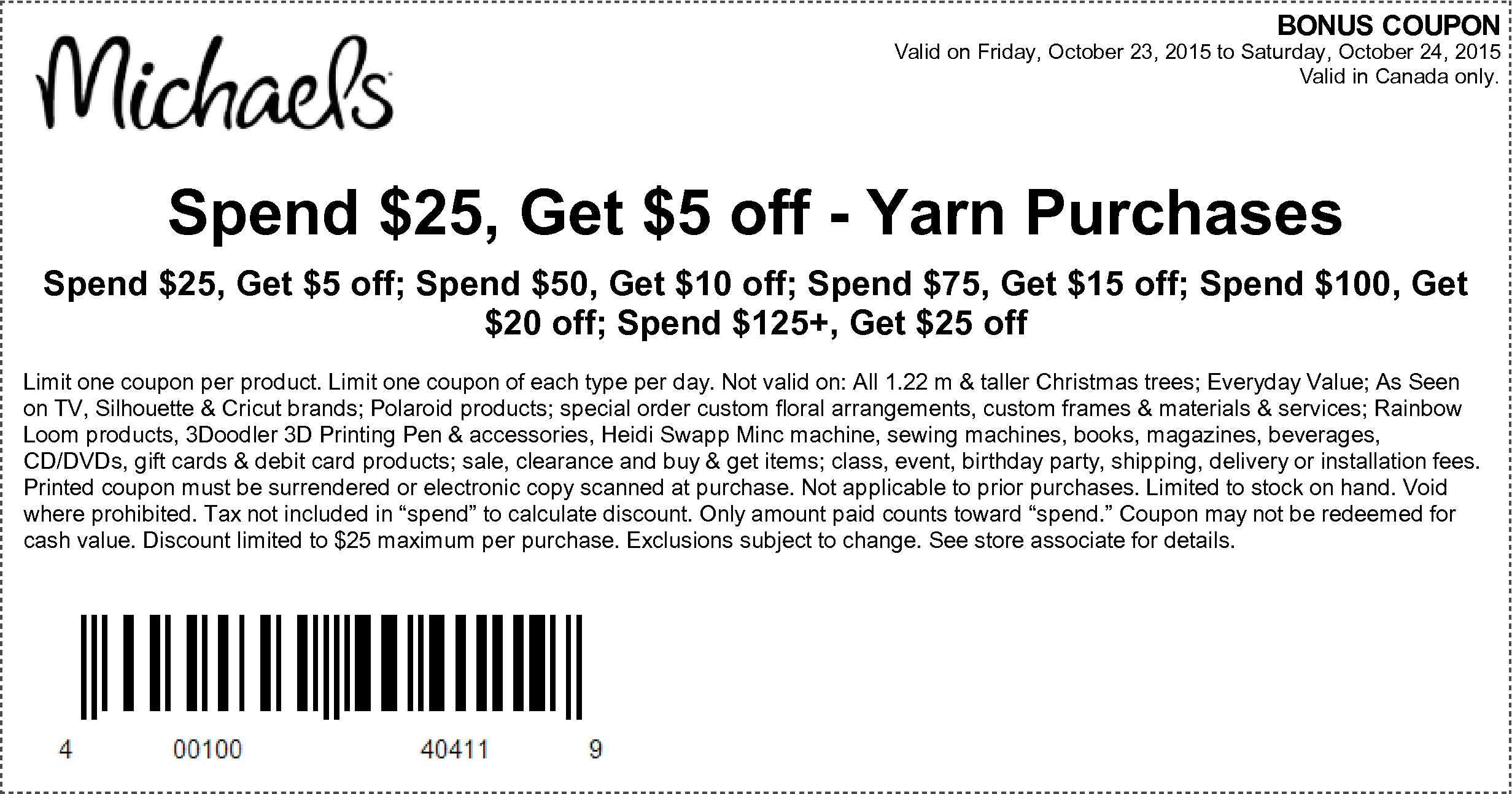 Michaels coupons 55 off