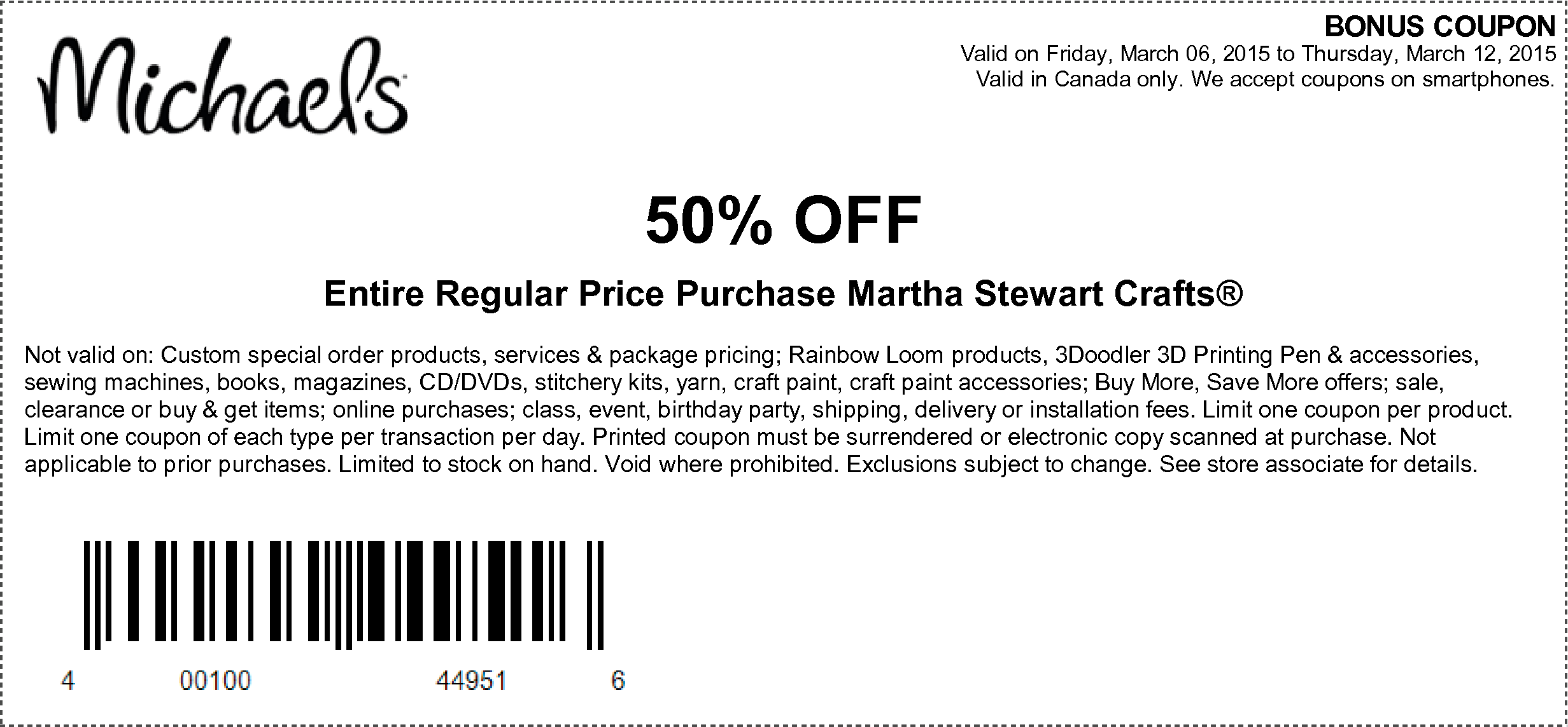 Michaels coupon off sale price