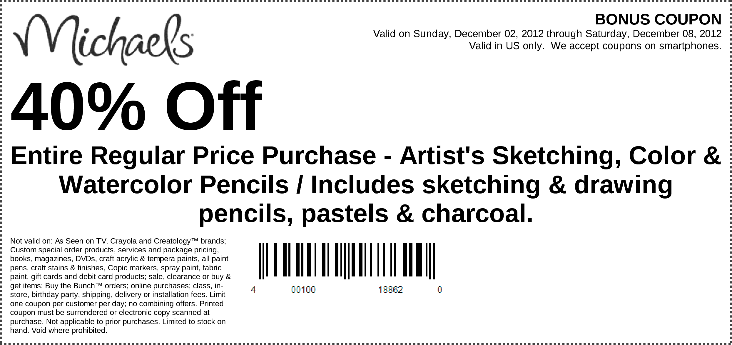Michaels coupon airbrush